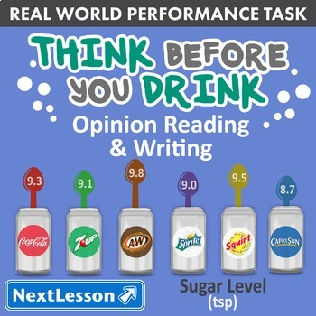 Bundle G4 Opinion Reading & Writing - 'Think Before You Drink' Performance Task