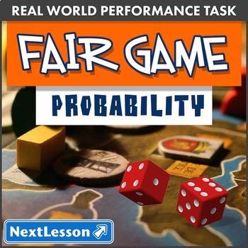 G7 Probability - 'Fair Game' Performance Task