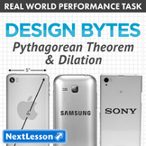 Performance Task - Pythagorean Theorem & Dilation - Design Bytes: Apple