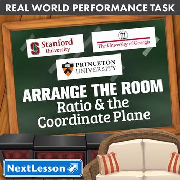 Bundle G6 Ratio & The Coordinate Plane - Arrange the Room Performance Task