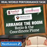 Bundle G6 Ratio & The Coordinate Plane - Arrange the Room Performance Task