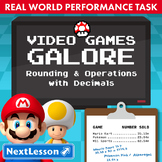 Bundle G5 Rounding & Operations with Decimals-Video Games Galore Task