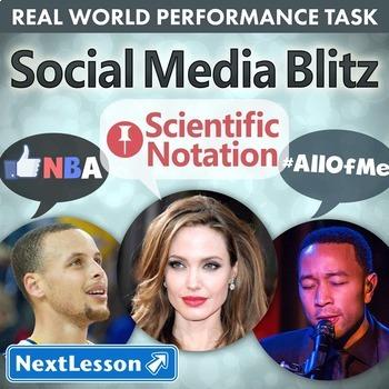 G8 Scientific Notation - 'Social Media Blitz' Performance Task