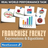 G7 Expressions & Equations - 'Franchise Frenzy' Performance Task