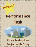 Performance Task Spanish Project Essay City + Professsions  Preterite Imperfect