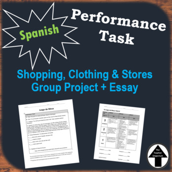 Performance Task Spanish Project Shopping Clothing Group Created Board Game Clue