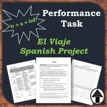Performance Task Spanish Travel Project Group Trip Oral Presentations El Viaje