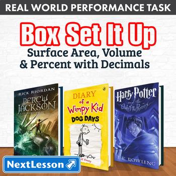 Performance Task – Surface Area, Volume & Percent w/ Decimals – Box Set It Up