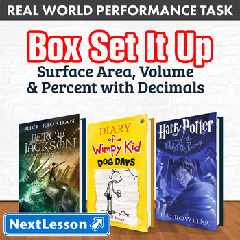 Performance Task – Surface Area, Volume & Percent w/ Decimals – Box Set It Up