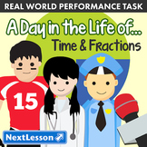 Performance Task - Time & Fractions - A Day in the Life Of...: NBA Player