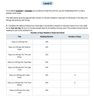 Bundle G4 Time Intervals - 'World Record Reading' Performance Task