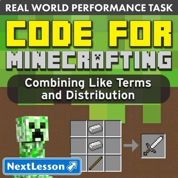 Performance Task – Unit Rate and Percent Change – Code for Minecrafting