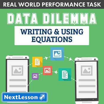 Performance Task - Writing & Using Equations - Data Dilemma: Photo Fiend