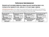 Performance Task for 4.MD.A.1 All measurement on 4th Grade Sci Test