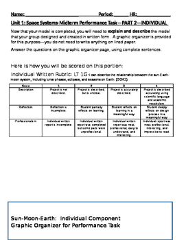 Performance Task for NGSS MS-ESS1-1