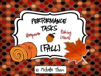 Performance Tasks Bundled {Fall}