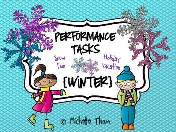 Performance Tasks Bundled {Winter}