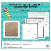 Performance Tasks for Opinion Writing - Opinion Writing Unit