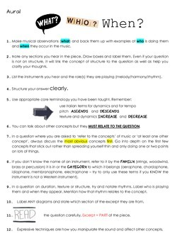 Performance and written Music 1 exam advice