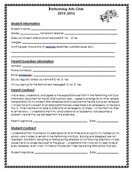 Performing Arts Club Start-up Packet