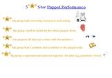 Kinder (or Prep)  to Year 2 - My first Rubric for Drama (puppetry)