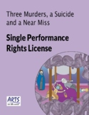 License for performing Three Murders, a Suicide and a Near Miss play script