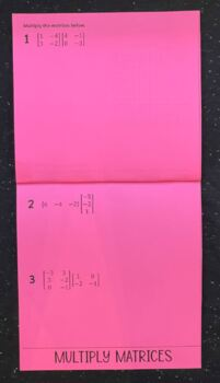 Performing Translations with Matrices (Geometry Foldable)