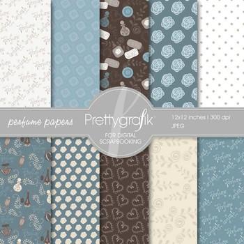 Perfume Digital Scrapbook Papers set - PS520
