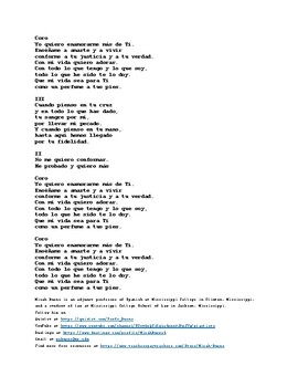 Perfume a Pus Pies (Perfume on Your Feet) by En Espíritu y Verdad. Spanish/Engli