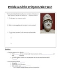 Pericles and Peloponnesian War Guided Notes and Presentati