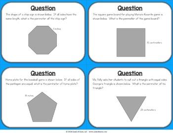 Calculating Perimeter Game: Perimeter Task Cards {3.MD.8, 4.MD.3}