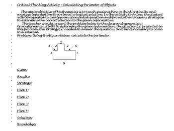 Perimeter 1:A Different Approach to Problem Solving...