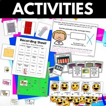 Perimeter - Perimeter Activities Worksheets Games