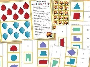Perimeter Games For 3rd Grade Math Centers