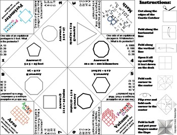 Finding the Perimeter Practice Activity Game for 4th, 5th, 6th Grade