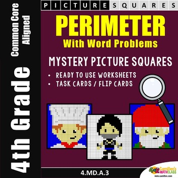 Perimeter Worksheets, Mystery Pictures