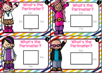 Perimeter AND area differentiated task cards with QR codes