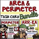 Perimeter & Area Pirate Task Card Bundle