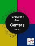 Perimeter & Area Centers - Set #1