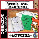 Perimeter Area Circumference Interactive Notebook