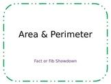 Perimeter & Area: Fact or Fib Showdown!