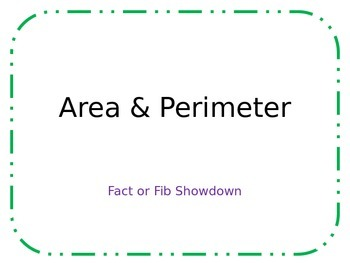 Perimeter & Area: Fact or Fib Showdown!
