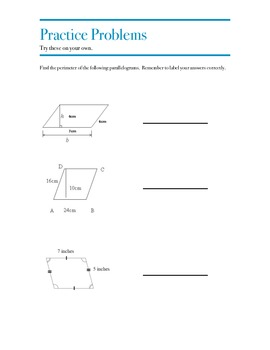 Perimeter & Area Flipped Classroom Packet