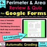 Perimeter & Area for Google Forms Review & Quiz auto-grade