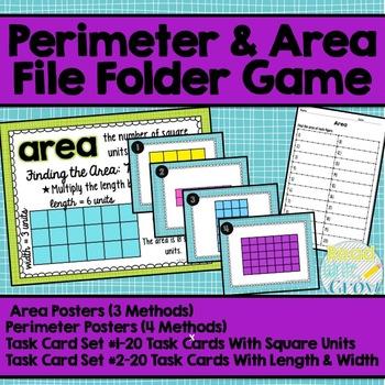 Perimeter & Area Posters & Task Cards