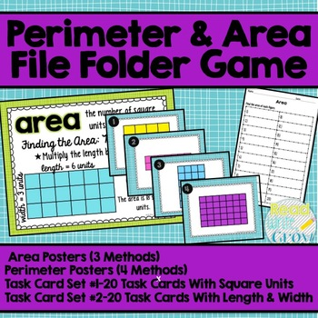 Perimeter & Area Posters & Task Cards