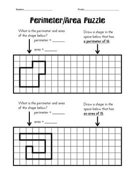 Perimeter/Area Puzzle Challenge