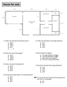 Perimeter & Area Real World Worksheets