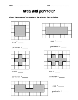 Perimeter/Area Shaded Regions