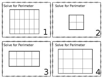 Perimeter & Area Task Cards